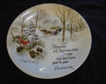 1974 Robert Laessig Christmas Plate