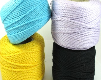 30 Meters Twisted One Color Cotton Cord, Twisted cord, Cotton Cord, Suitable For Packaging 1.5mm