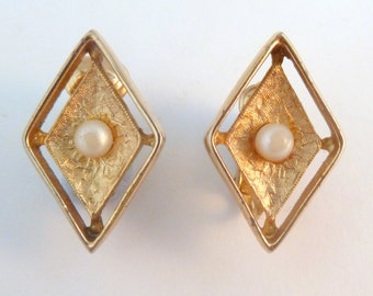 Vintage ' Debutante ' Clip On Earrings By Sarah Coventry. Circa 1960's