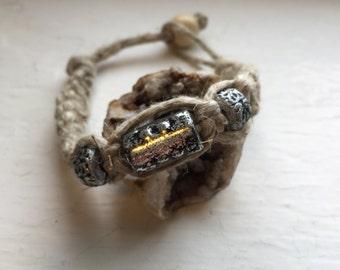 Custom Beaded Hemp Bracelet. Hemp Jewelry. Natural. Custom Jewelry.