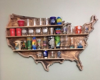 United States Shot Glass Shelf