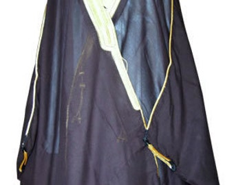 BISHT Arabic Cloak Robe Sufi Whirling Dervish Clothing Gown Thobe Long Robe Arab Mens Gold Trim SheikhNew