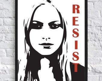 Fringe Inspired Poster - Etta - Resist - A4 - TV Poster