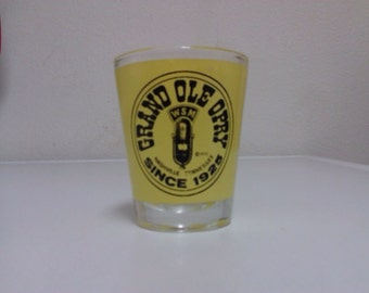 Grand ole opry shot glass 1975 vintage country music whiskey nashville tennessee