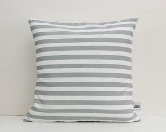 Gray pillow, Gray bedding, Grey and White nursery decor, Cotton linen fabric, 18x18 pillow cover, Scandinavian cushion, UK seller