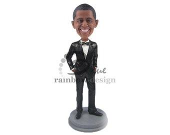 Barack Obama Bobblehead, President Obama Bobblehead, President Barack Obama Bobblehead, Obama Collectible Bobblehead