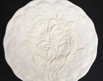 LG Wright Custard Glass Dessert/Cake Plate