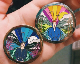 Pretty Lights Only Yesterday Pin: Set of Both Daytime and Nighttime Variants