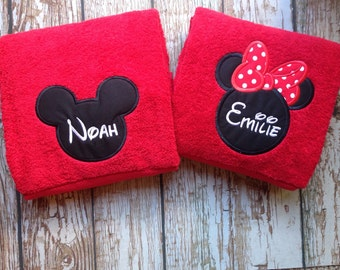 Custom embroidered towel with personalization