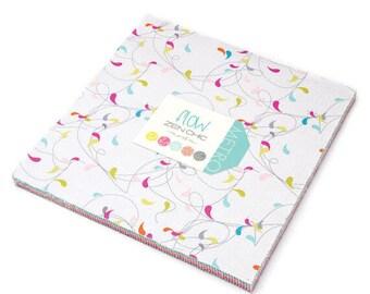 MODA LAYER CAKE | Flow | Zen Chic | Layer Cake | Brigitte Heitland | Fabric Precut