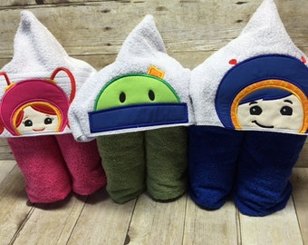 Hooded towel for kids...any character or color