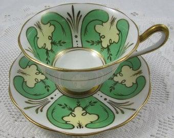 Green Royal Albert Tea Cup and Saucer