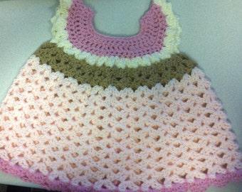 Girls Crochet Infant Dress - Size Newborn to 3 Months
