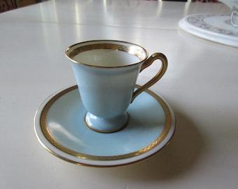 SAN FRANCISCO SHREVE and Co. Lenox Demitasse Teacup and Saucer Set