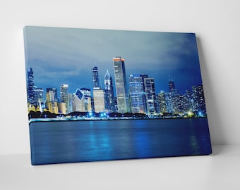 Chicago Downtown Skyline Gallery Wrapped Canvas Print