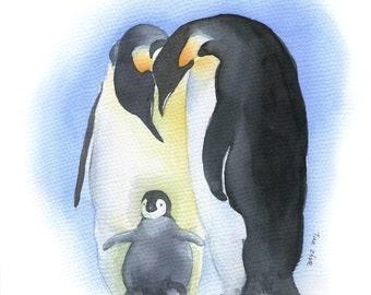 watercolor painting, animal painting, original art, bird painting