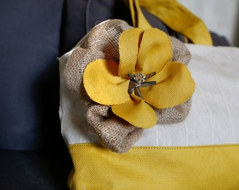 Yellow Flower Purse