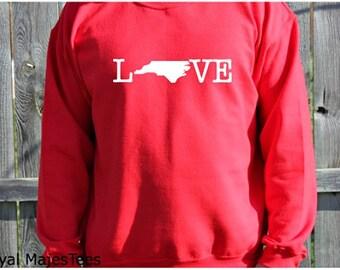 Love North Carolina Sweatshirt