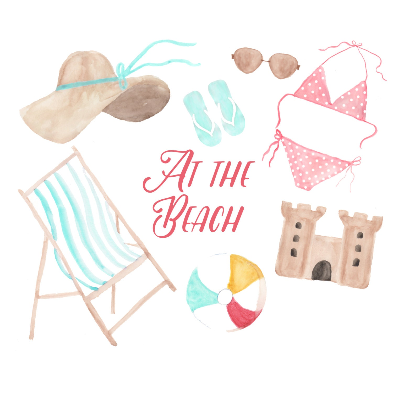 Beach clipart   Etsy