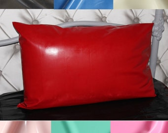 Handmade 100% Genuine Latex/Rubber Single Pillow Case, 0.40mm Gauge - 9 Colours