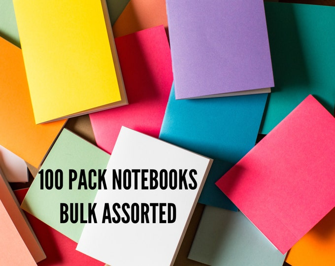 Bulk Notebooks 100 Pack journal Handmade Pocket Journals, Mini Diaries, Jotters, Blank Books, notebook supply, FREE U.S. SHIPPING