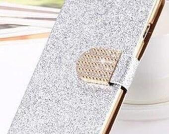 Silver Galaxy S6 Rhinestone Bling Phone Case