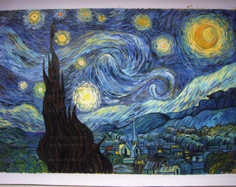 The Starry Night - Vincent van Gogh hand-painted oil painting reproduction  for home decor wall art or gift
