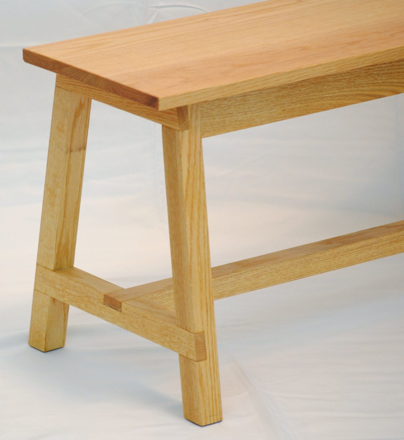Used Foyer Bench : Oak bench used as an entryway around the kitchen