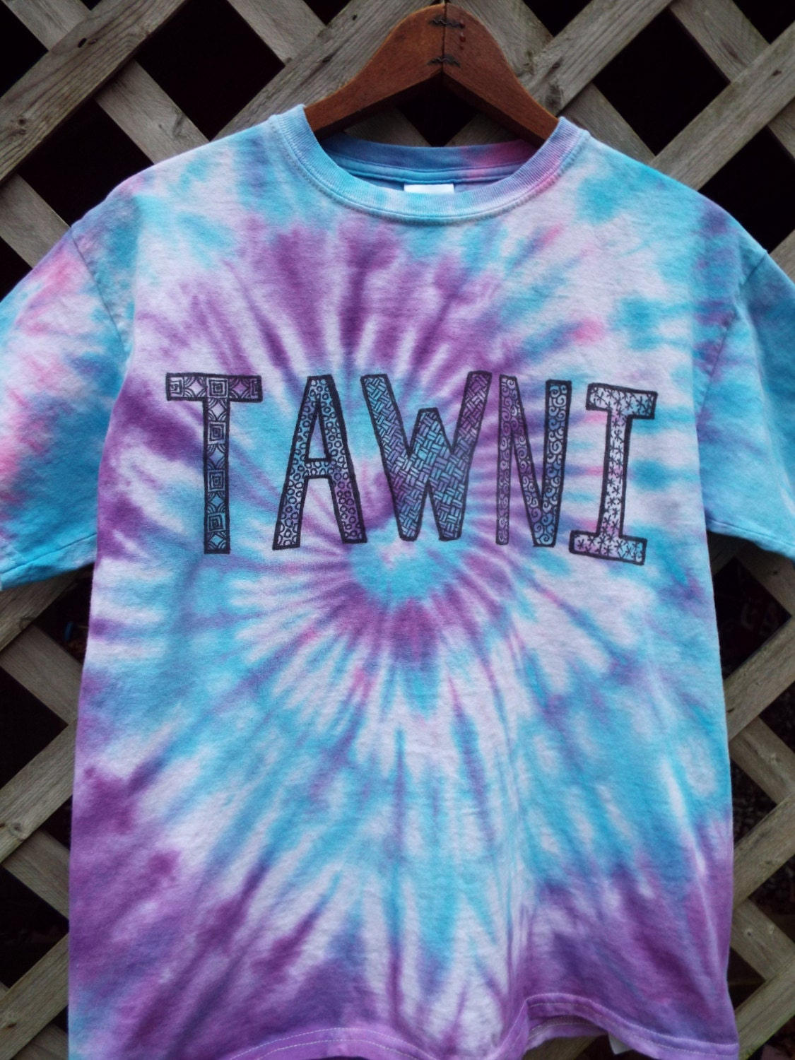 Custom tie dye name shirts your name or words on a tshirt for Custom tie dye t shirts