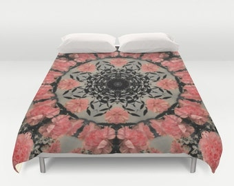 couverture de couette flamant rose chambre par just3js sur. Black Bedroom Furniture Sets. Home Design Ideas