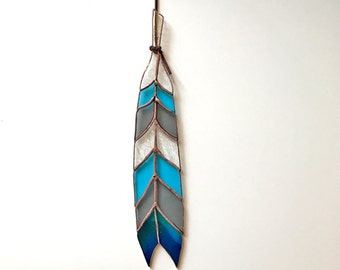 Chevron Stained Glass Feather