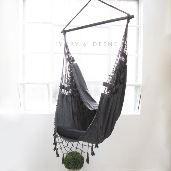 like this item  deluxe hanging hammock chair relax in luxury and  fort  rh   etsy