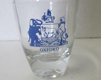 Vintage Oxford Shot Glass