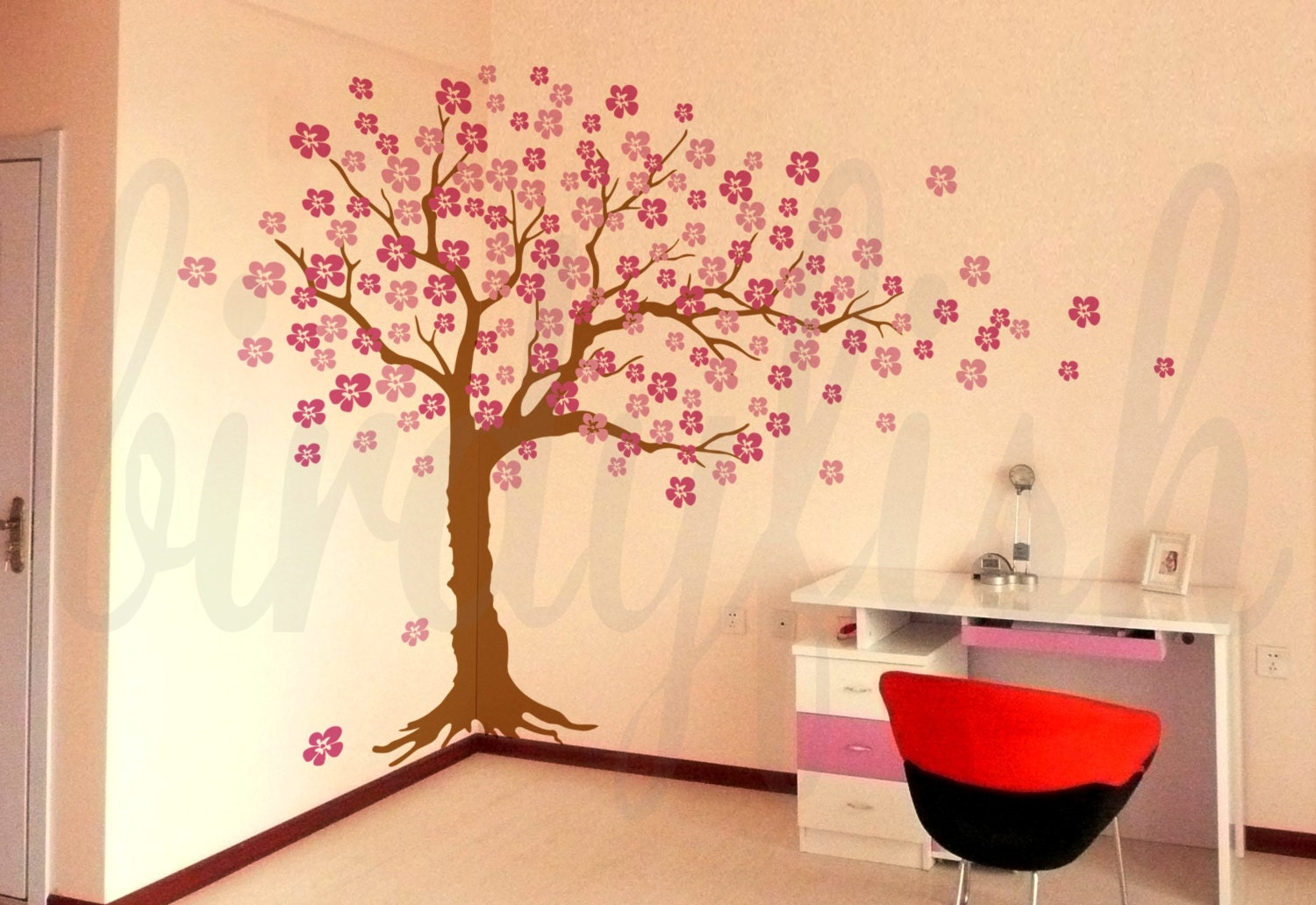 Colorful Sakura Wall Art Composition - Wall Decoration Ideas ...