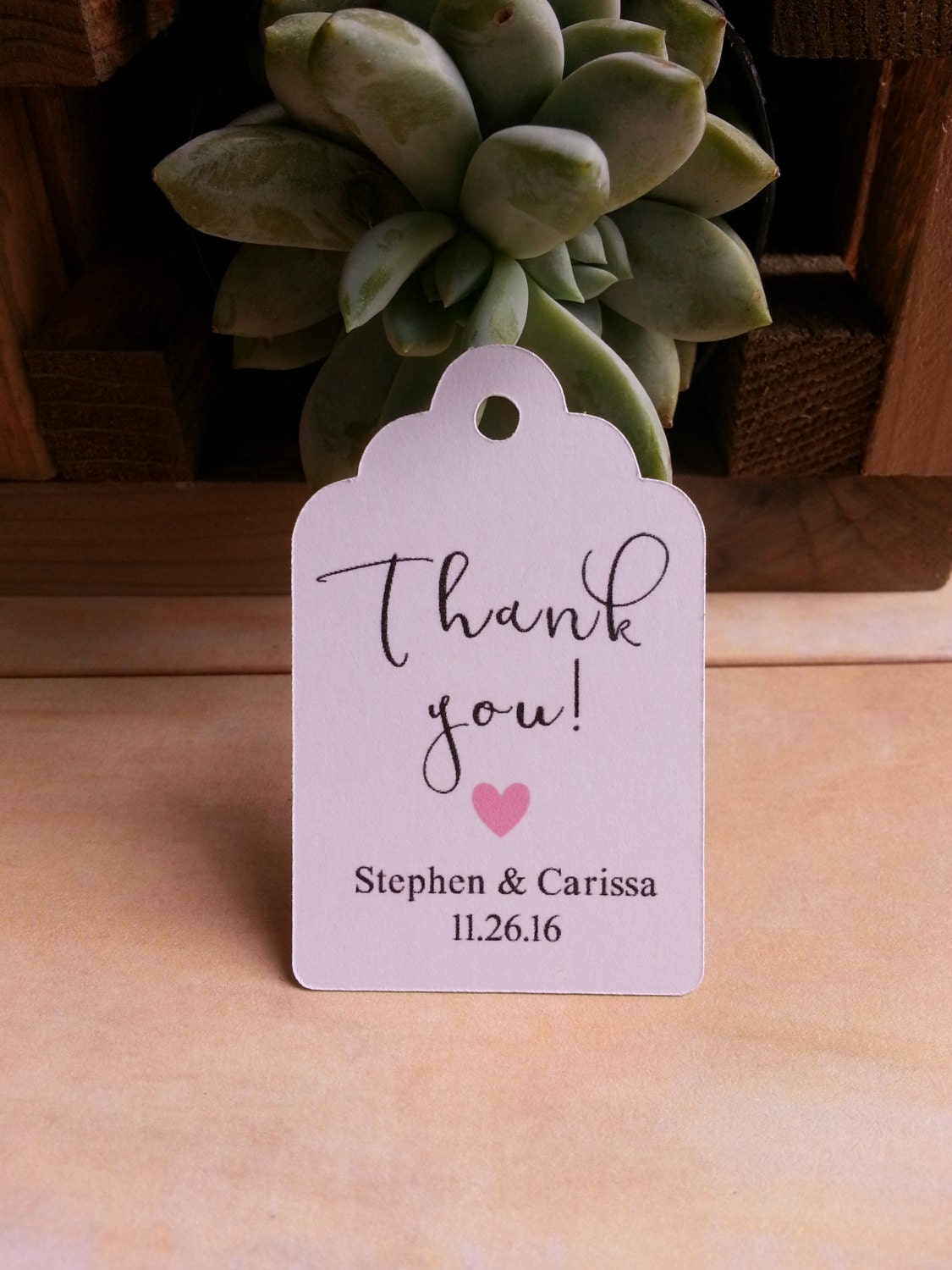 25 wedding favor thank you tags custom wedding favor thank