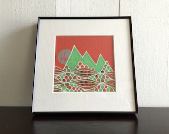Orange and Mint Square Mtn Series