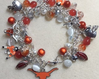 Texas Longhorns Charm Jingle Bracelet