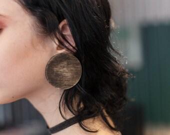 Circle Wooden Earrings