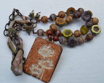 Rustic bohemian knotted necklace - Suzieqbeads - DayLilyStudio