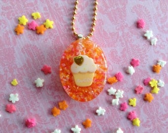 Cupcake Pendant, Candy Necklace, Resin Candy