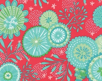 Coral Queen fabric by Moda, 1/4 metre or more,  online quilting fabric Australia