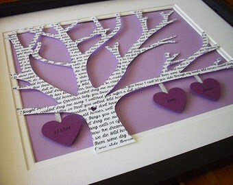 Personalized Paper Anniversary Gift, 1st anniversary, Wedding Song Lyrics, First Dance Lyrics, Paper Anniversary Gift, 1st Anniversary Gift
