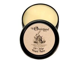 Sir Cedar Beard Balm, All Natural Beard Balm, Beard Grooming, Beard Wax, Beard Care, Gift For Him, Wonderland Boy, Alice in Wonderland