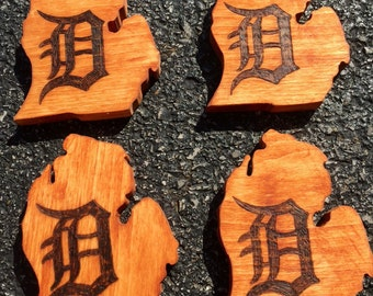 Detroit Tigers coasters with bottle opener