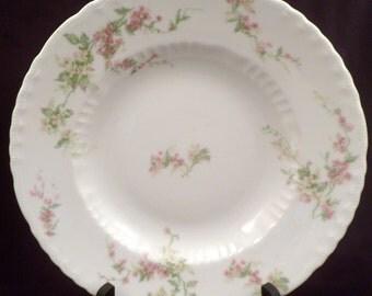 Theodore Haviland Limoges Schleiger 1240 Large Soup Bowl, Antique Porcelain