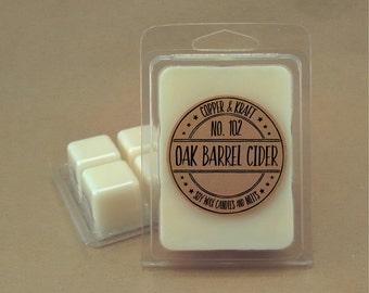 No. 102 OAK BARREL CIDER // Soy Wax Melt // Soy Wax Tarts // Highly Scented Wax Melts