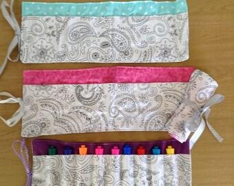 Color Me Marker Roll- Princess Paisley