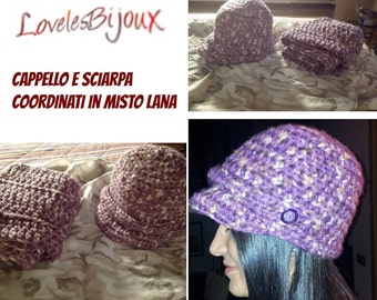 crochet hat made with wool mix