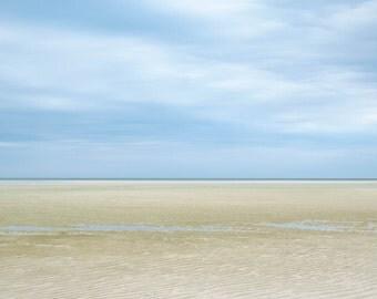 Cape Cod ~ Chapin Beach, Cape Cod, Dennis, MA, Nautical, Boat, Coastal Home Decor, Beach Photography, Ocean, Joules, Wall Art, Blue, Beige