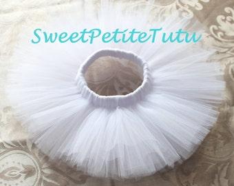 White tutu, Elegant white tutu, Baby tutu, Preemie, Newborn to Teen tutu, Sweet Petite Tutu, white newborn tutu, Whtie preemie tutu